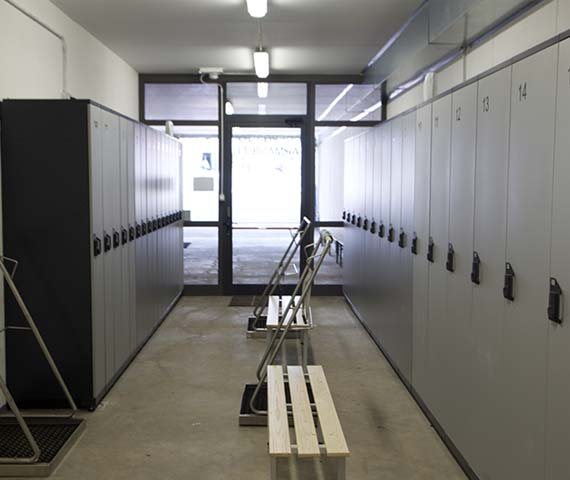 Lockers for ski storage