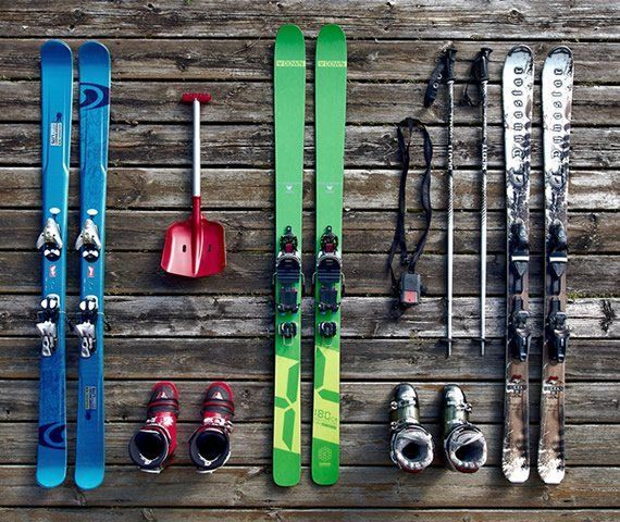 Ski equipment exhibition