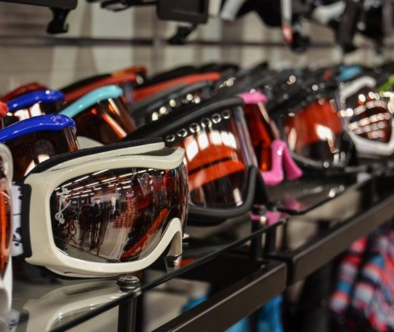 Ski goggles exhibition
